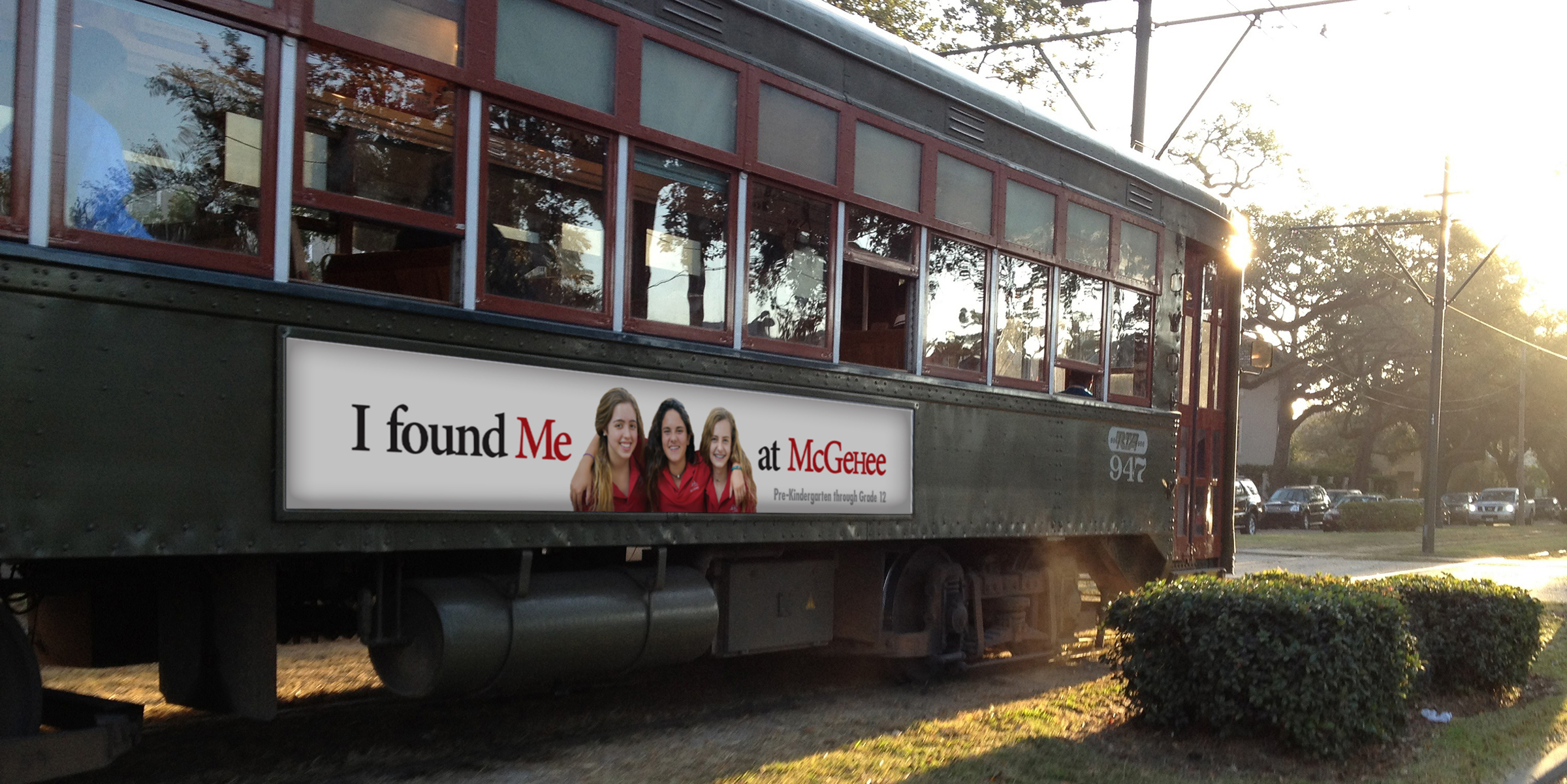 McGehee School streetcar ad