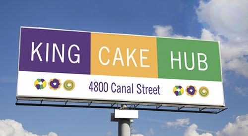 King Cake Hub billboard