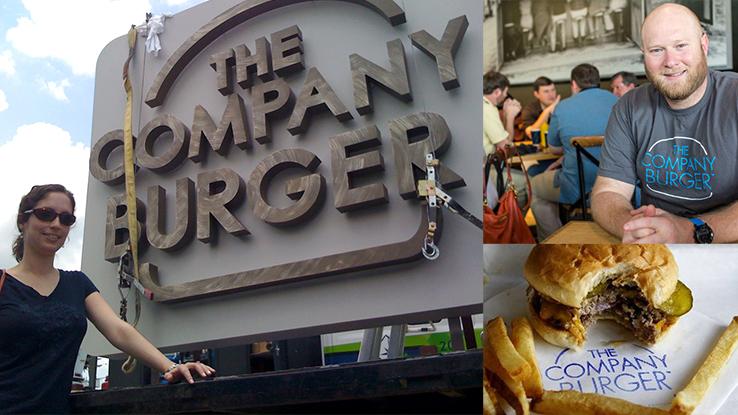 The Company Burger logo sign