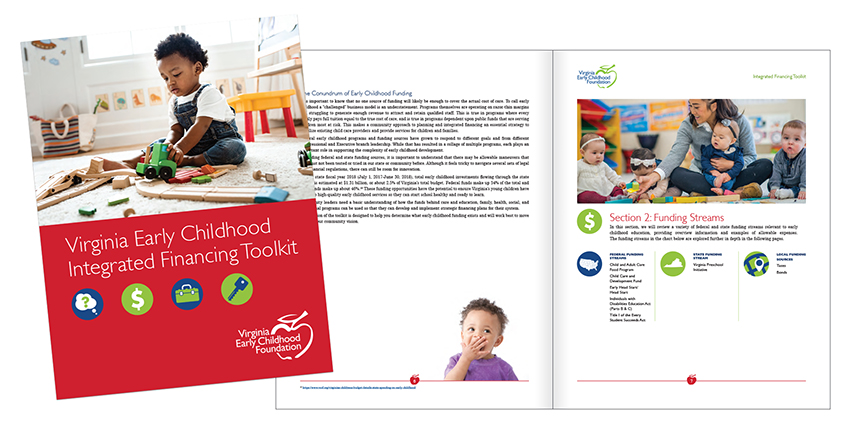 Virginia Early Childhood Foundation printed integrated financing toolkit